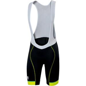 Sportful Giro kraťasy s trakmi čierne/fluo žlté