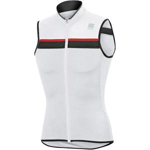 Sportful Pista Dres bez rukávov biely/čierny/červený