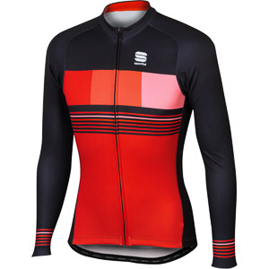 Sportful Stripe Thermal dres červený/čierny