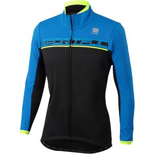 Sportful Giro Softshell bunda čierna/modrá/fluo žltá
