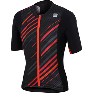 Sportful R&D Celsius dres čierny/antracit/červený