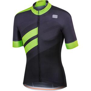 Sportful Bodyfit Team dres čierny/zelený fluo