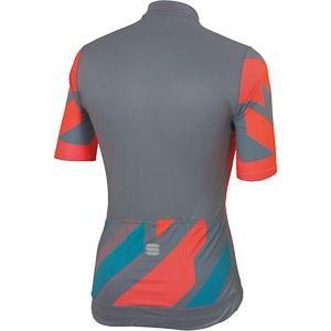 Sportful Volt cyklistický dres sivý/modrý/koralový
