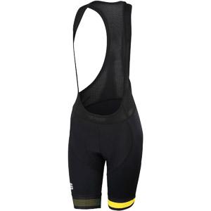 Sportful Bodyfit Pro Dámske kraťasy s trakmi čierne/svetložlté