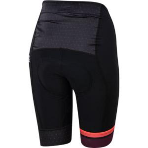 Sportful Diva dámske cyklistické kraťasy čierne/bordové