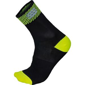 Sportful BodyFit Pro 12 ponožky čierne/fluo žlté