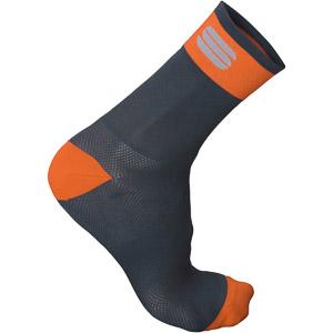 Sportful Bodyfit Pro 12 ponožky čierne/oranžové
