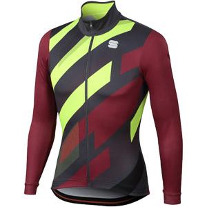 Sportful Volt Thermal dres vínovočervená/antracit/fluo žltá