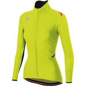 Sportful Fiandre Light WindStopper bunda dámska fluo žltá