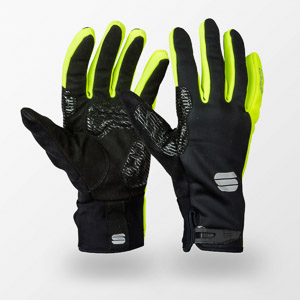 Sportful Gore WindStopper Essential2 rukavice čierne/fluo žlté