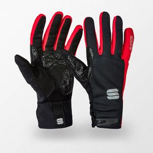 Sportful WindStopper Essential 2 rukavice čierne/červené
