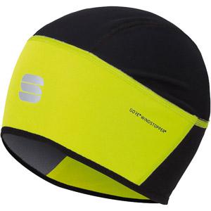 Sportful Windstopper čiapka pod prilbu fluo žltá/čierna