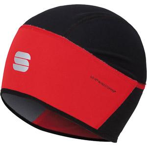 Sportful Windstopper čiapka pod prilbu červená/čierna