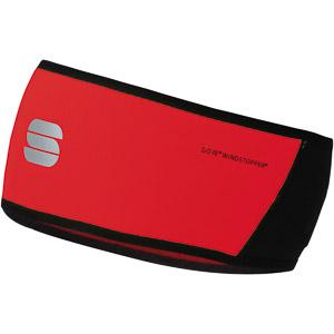 Sportful Windstopper čelenka červená/čierna