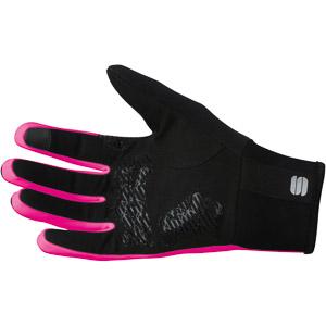 Sportful Gore Windstopper Essential 2 dámske rukavice čierne/ružové