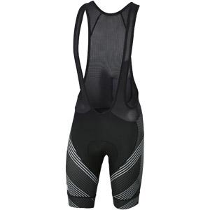 Sportful Bodyfit Team Faster Kraťasy s trakmi  čierne/antracitové/biele