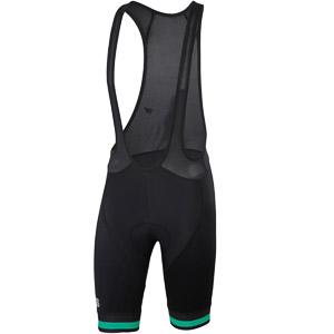 Sportful Bodyfit Team Classic Kraťasy s trakmi čierne/Bora zelené