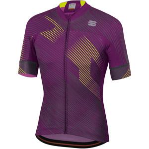 Sportful Bodyfit Team 2.0 Faster Dres purpurový/žltý fluo