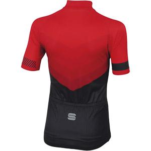 Sportful Chevron Detský cyklo dres červený/čierny