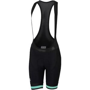 Sportful Bodyfit Classic Dámske kraťasy s trakmi čierne/zelené