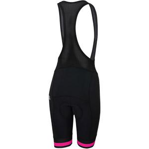 Sportful BF Classic Dámske kraťasy s trakmi  čierne/ružové