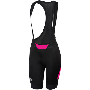 Sportful Neo Dámske kraťasy s trakmi čierne/ružové