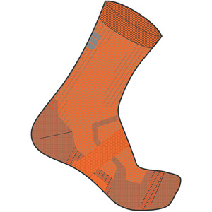 Sportful Bodyfit Pro 2.0 Ponožky oranžové