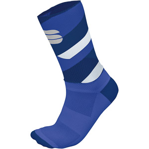 Sportful Bodyfit Team 15 Ponožky modré/biele