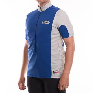 Hot n' Wild cyklistické tričko modrá-sivá