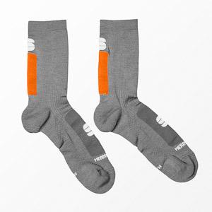 Sportful Merino Wool 18 ponožky sivé/oranžové