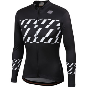 Sportful Tec-Trix dres s dlhým rukávom čierny/biely