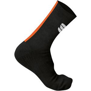 Sportful Race Winter ponožky čierne/oranžové