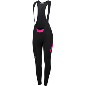 Sportful Neo dámske nohavice s trakmi  čierne/žuvačkové