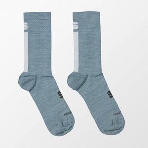 Sportful WOOL W 16 dámske ponožky modrosivé/biele