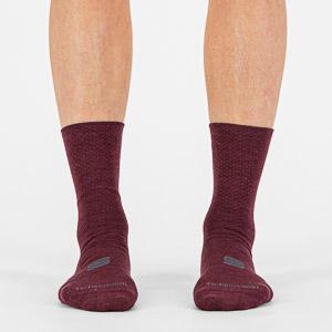 Sportful WOOL W 16 dámske ponožky tmavočervené/čierne