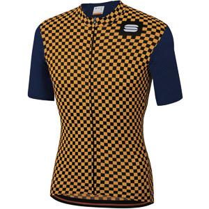 Sportful Checkmate dres modrý/zlatý