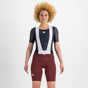 Sportful Ltd dámske kraťasy s trakmi červené