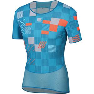 Sportful Pro tričko tričko svetlomodré/methyl/oranžové SDR