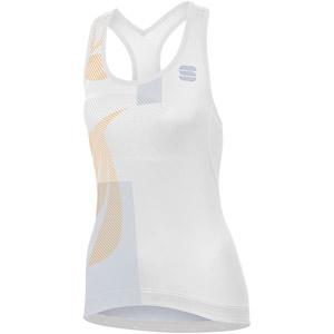 Sportful Oasis dámsky top biely/strieborný/zlatý