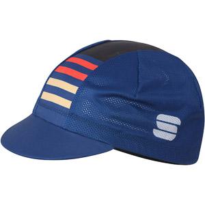 Sportful Mate čiapka modrá/červená/zlatá