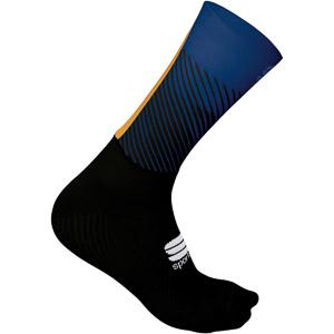 Sportful Evo ponožky čierne/modré/zlaté