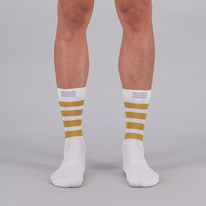 Sportful Mate ponožky biele/antracitové/zlaté