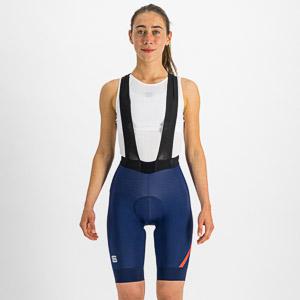 Sportful Fiandre NoRain dámske kraťasy s trakmi modré