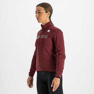 Sportful TEMPO dámska bunda tmavočervená
