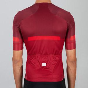 Sportful EVO cyklo dres tmavočervený