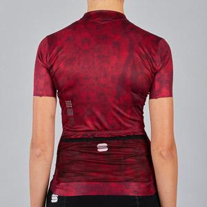 Sportful Escape Supergiara dámsky dres tmavočervený
