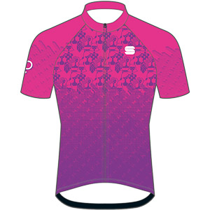 Sportful Super dievčenský cyklo dres ružový
