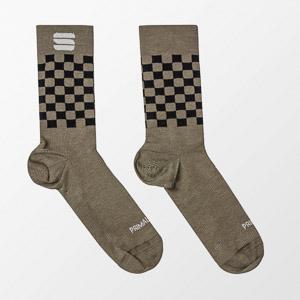 Sportful CHECKMATE WINTER ponožky kaki/čierne