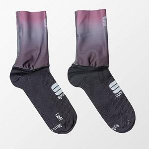 Sportful RACE MID dámske ponožky čierne/mauve