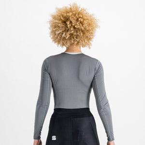 Sportful MIDWEIGHT dámske tričko s dl. rukávom sivé
